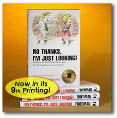 Harry J Friedman book, 'No thanks, I'm just looking'