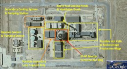 Satellite image of Arak nuclear facility