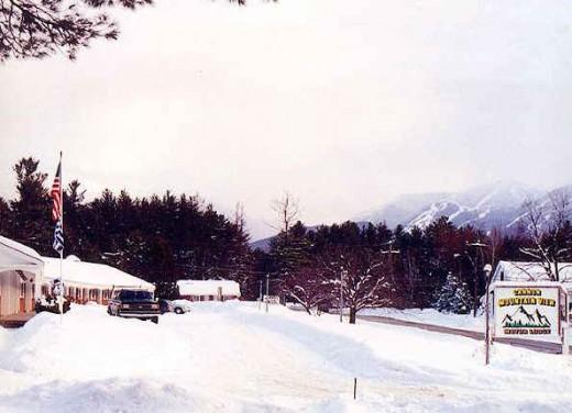 Winter at motel