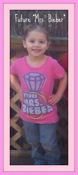 """My niece, Baylie, has decided that SHE is going to be the next """"Mrs. Bieber"""" - Look Out Taylor!"""