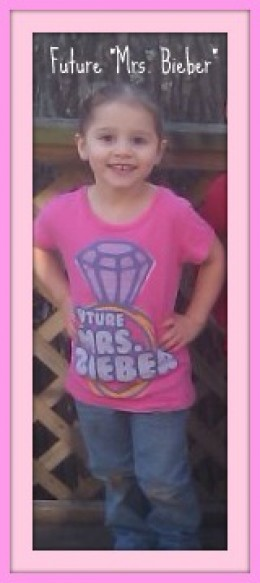 "My niece, Baylie, has decided that SHE is going to be the next ""Mrs. Bieber"" - Look Out Taylor!"