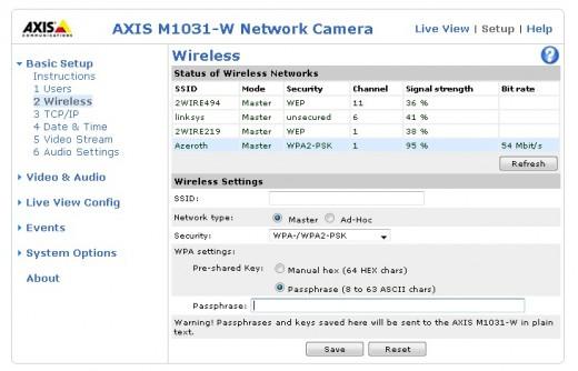 Wireless Network Settings