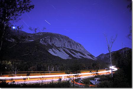Canon cliffs at night