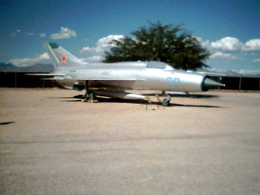 A Soviet Air Force MiG-21PF at the Pima Air and Space Museum in Tucson, AZ