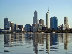 Skyline of Perth, Australia.