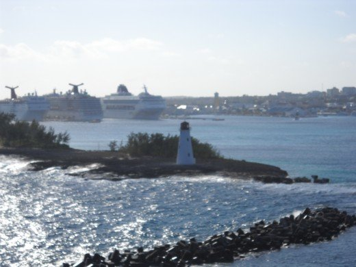 Pic entering Nassau Harbor and port from cruise ship.