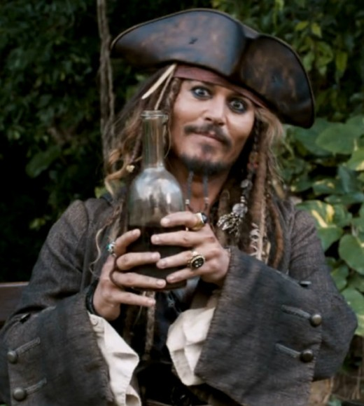 Johnny Depp as Captain Jack Sparrow in Pirates of Caribbean: On Stranger Tides