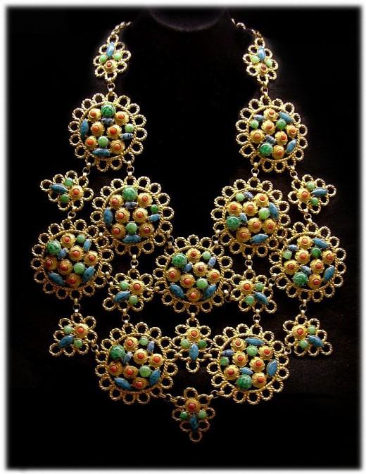 Byzantine Style Bib Necklace