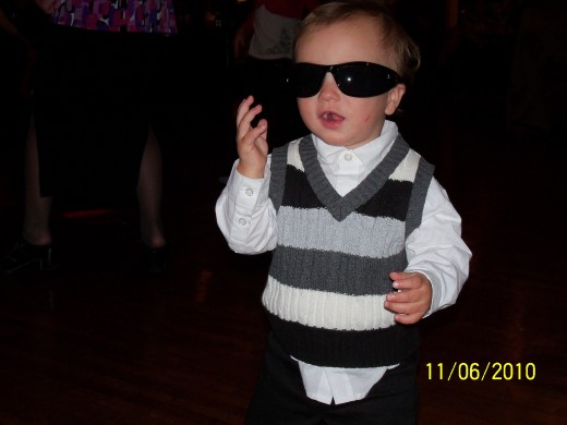 Possible future rock star.... he already has the glasses!