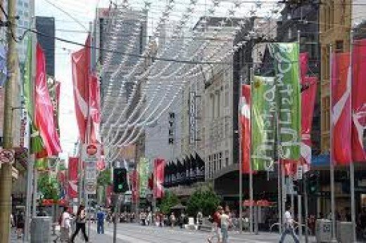 Bourke Street Mall, Melbourne