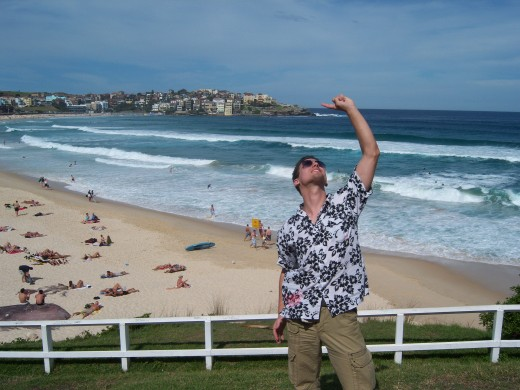 First time at Bondi Beach in Sydney