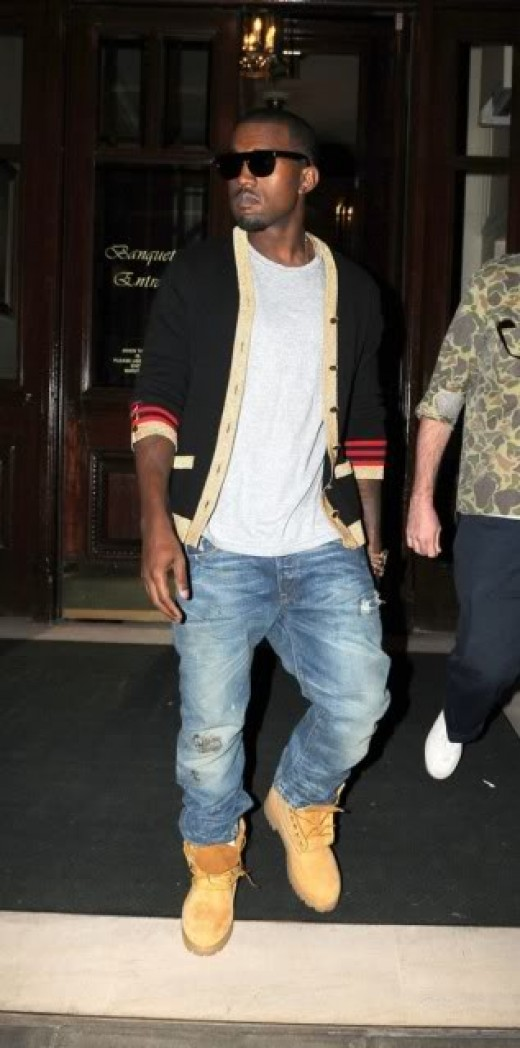 Kanye West wearing Timberland Boots
