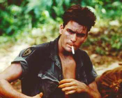 Charlie Sheen in Platoon looked pretty cute.