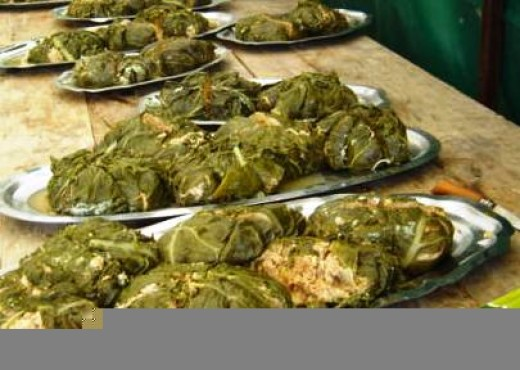 Stuffed cabbage at the Videix communal meal (see below)