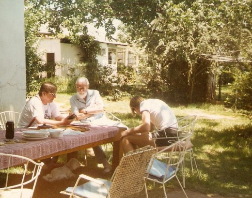 Tony McGregor, his father Murray (the baby in the photo above!) and son Zak. Photo taken in 1989 in Johannesburg.
