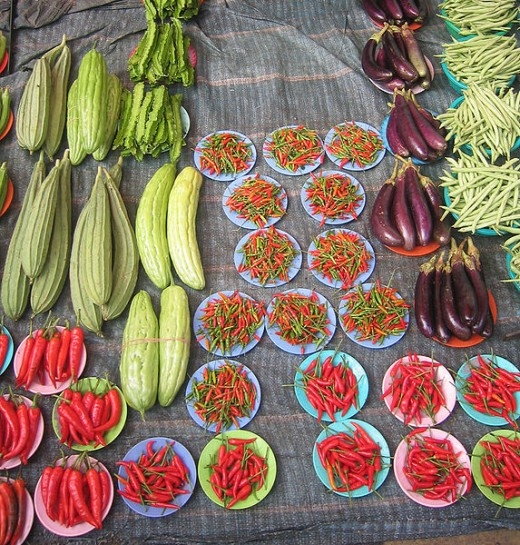 Organic foods at a farmers' market