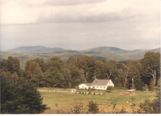 New England farm house