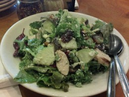 waldorf salad with blue cheese is really good. The blue cheese blends perfectly with the crispy apple and nuts. One of my fave at the CPK ( California Pizza Kitchen)