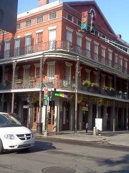 Many buildings in the French Quarter have these wonderful balconies