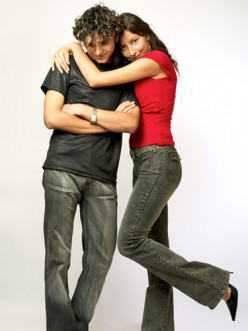 See how much he wants to run away from this clingy, possessive woman?