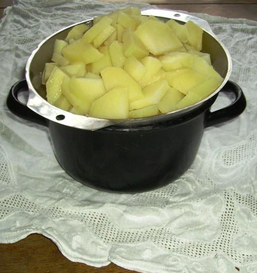 Potatoes as the main ingrediens.
