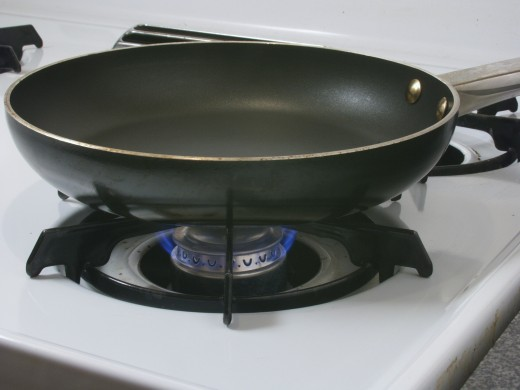 A frying pan is used to fry foods crisp, and quickly.