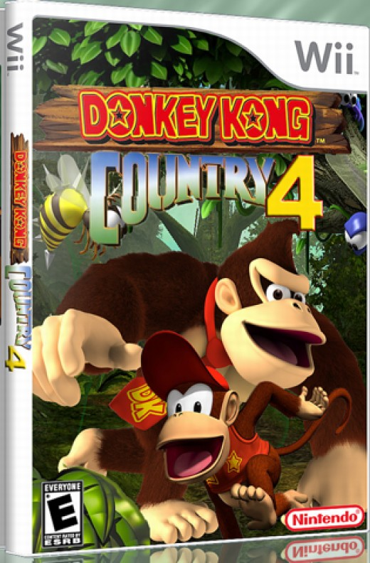 Donkey Kong Country 4 Box Art by Veronica