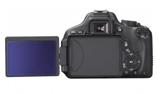 Vari-angle (articulating) LCD screen