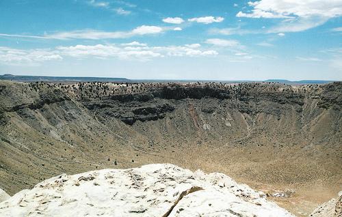 A meteorite crater
