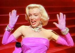 "Marilyn Monroe performing ""Diamonds Are a Girls Best Friend"" in ""Gentlemen Prefer Blondes."" (1953)"