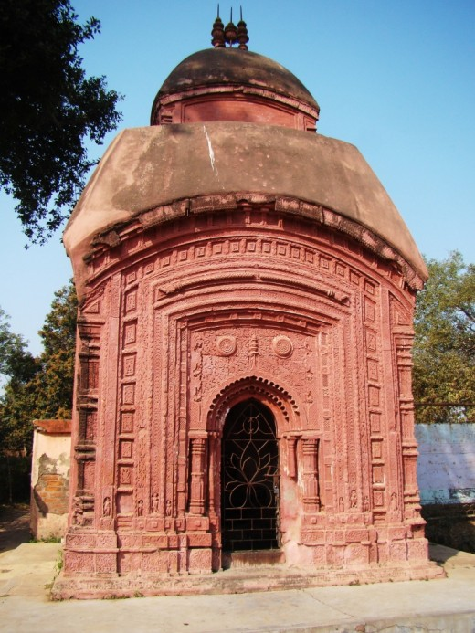 A terracotta temple at baidyapur