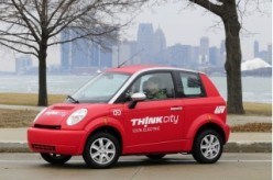 This is the THINK City - the perfect urban car for anyone in Indiana.