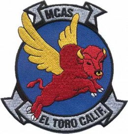 Military badge designed by Walt Disney Studios for the US Marine Corps Air Station El Toro, California.