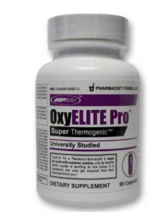 The bottle of Oxyelite Pro