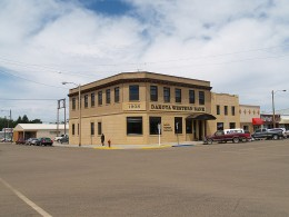 The bank in Bowman, ND
