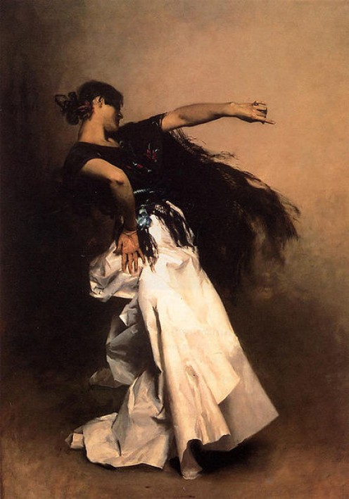 Spanish Dancer painted by John Singer Sargent ~1881