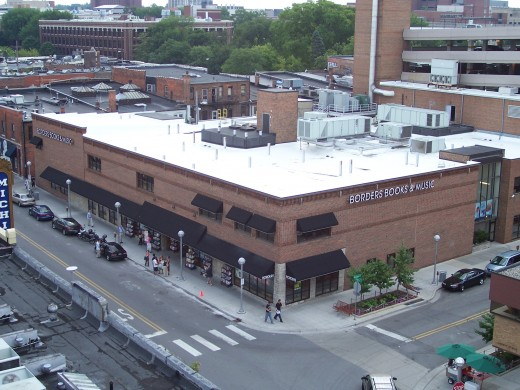 The Borders flagship store in Ann Arbor Michigan
