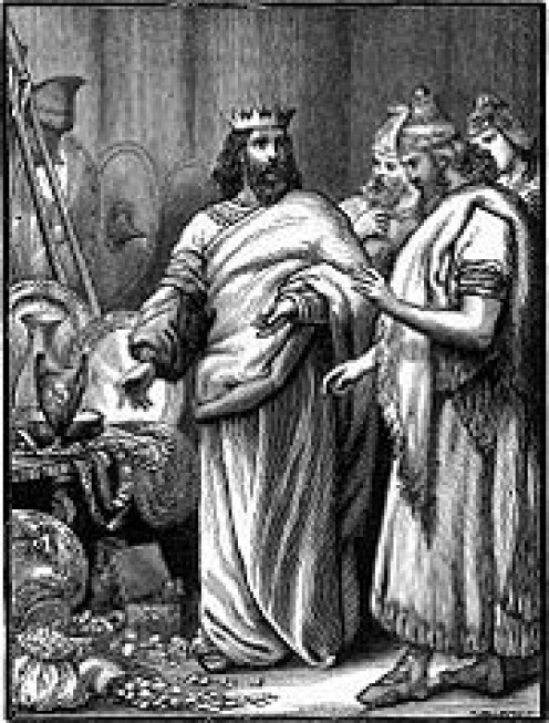 Zedekiah unwisely showed his treasures to Babylonian envoys