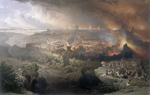 """Siege and Destruction of Jerusalem"" - by David Roberts (1850)"