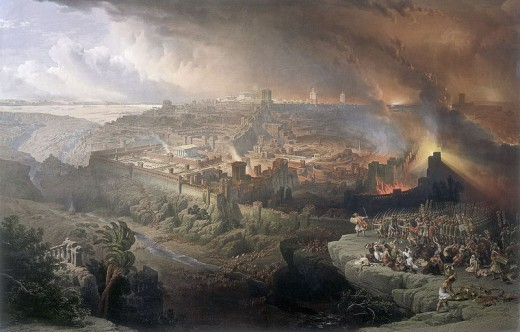 """Siege and Destruction of Jerusalem"" - by David Roberts (1850)"