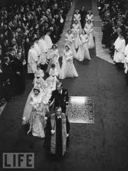Queen Elizabeth II and Prince Philip Wedding 1947