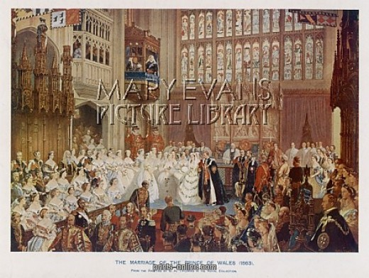 King Edward VII wedding to Alexandra 1863