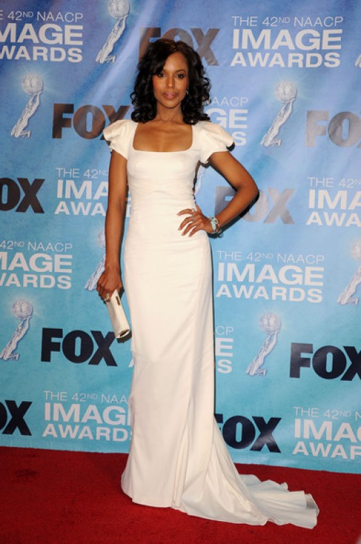 Kerry Washington in the press room at the NAACP Image Awards, 2011 ceremony phot credit: zimbio.com
