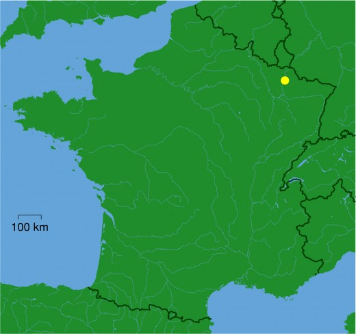 Map location of Metz