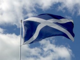 The Cross of Saint  Andrew - the Scots'  flag - the Scottish flag