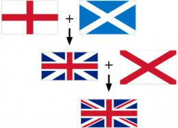 If you're wondering how the British flag is made up, here it is. And if you aren't wondering; you have your own flag to look at anyway.