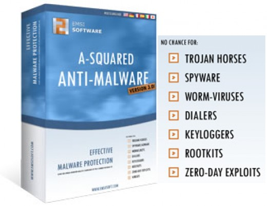Some types of malware a-squared is capable of detecting and erasing