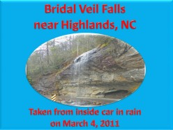 Ask DJ Lyons: Bridal Veil Falls in Highlands, NC