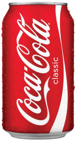 Can of Coca-Cola.
