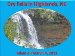 Ask DJ Lyons: Dry Falls in Highlands, NC